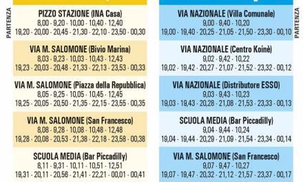 Orari della navetta urbana a Pizzo.