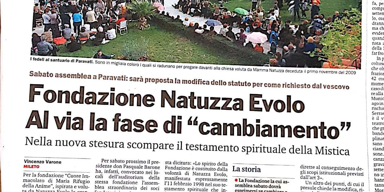 Fondazione Natuzza Evolo Al via la fase di cambiamento