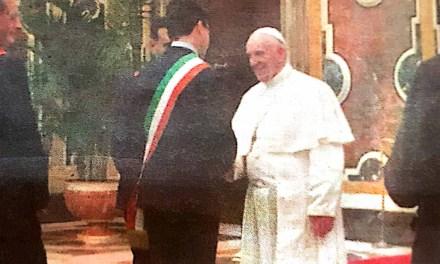 Gianluca Callipo all'udienza con Papa Francesco