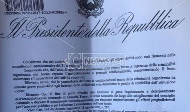 Scioglimento Lamezia: «La mercificazione dei voti ha riguardato assessori e consiglieri»