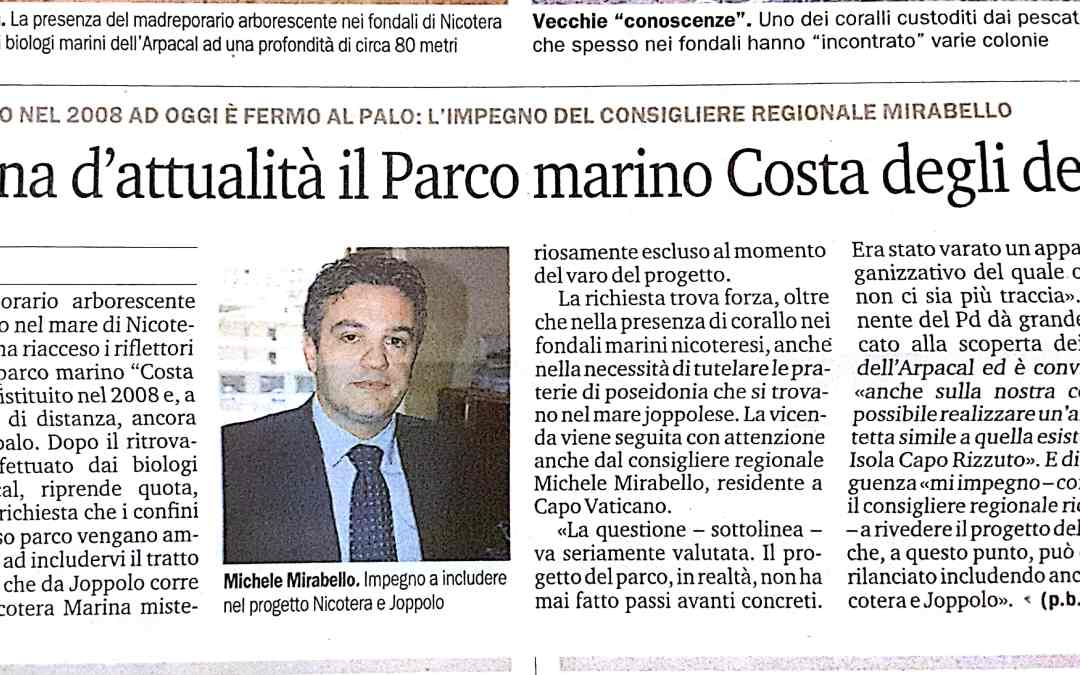 TORNA D'ATTUALITA' IL PARCO MARINO COSTA DEGLI DEI