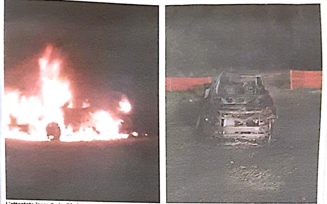 Incendio doloso distrugge il SUV di un imprenditore di Cessaniti