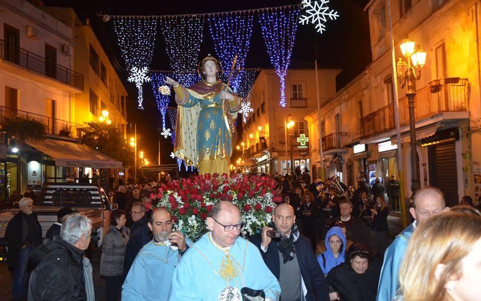 Pizzo processione e messa di S. Lucia Vergine e Martire di A. Teti