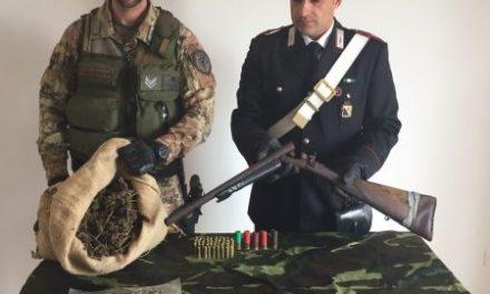 Armi e droga, controlli sul territorio: due arresti e sequestro dello stupefacente
