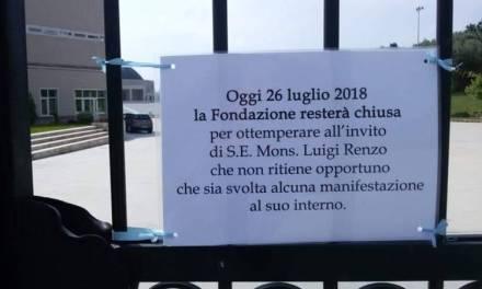 """Paravati, il cancello della Villa della Gioia di Natuzza sbarrato nel """"Giorno della promessa"""" (VIDEO)"""