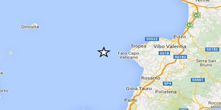 Scossa di terremoto al largo di Capo Vaticano avvertita sino a Vibo