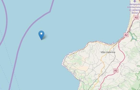 Terremoti, ancora una lieve scossa al largo della costa vibonese