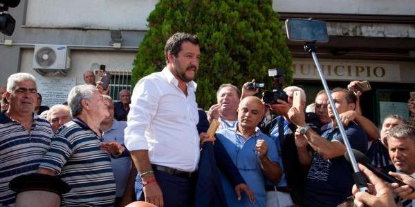 """Salvini: """"La 'ndrangheta è una schifezza"""""""