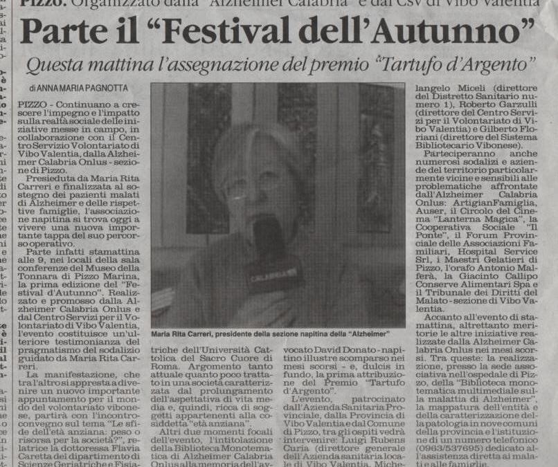 """Parte il """"Festival dell'Autunno"""" del 2009"""