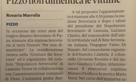 Aa 100  anni dalla tragedia  Pizzo non dimentica le vittime.