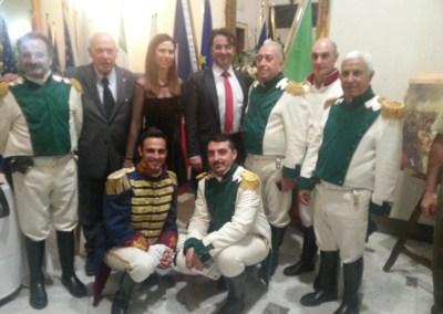 Napoli 23/5/2015 Il 5° Real Calabria a  Cena di Gala con il Principe Joachim Murat