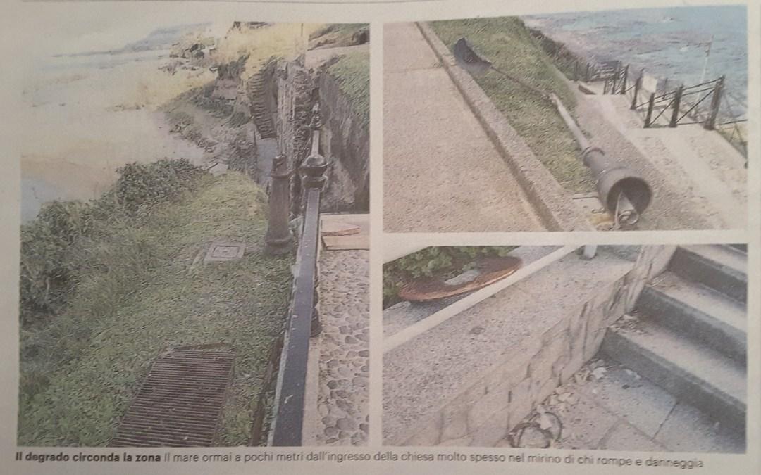 Piedigrotta, il caratteristico sito paga lo scotto di erosione e vandali
