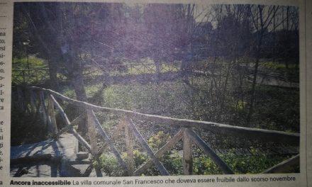 """Villa comunale """"San Francesco"""", torna il decoro ma resta off limits"""""""