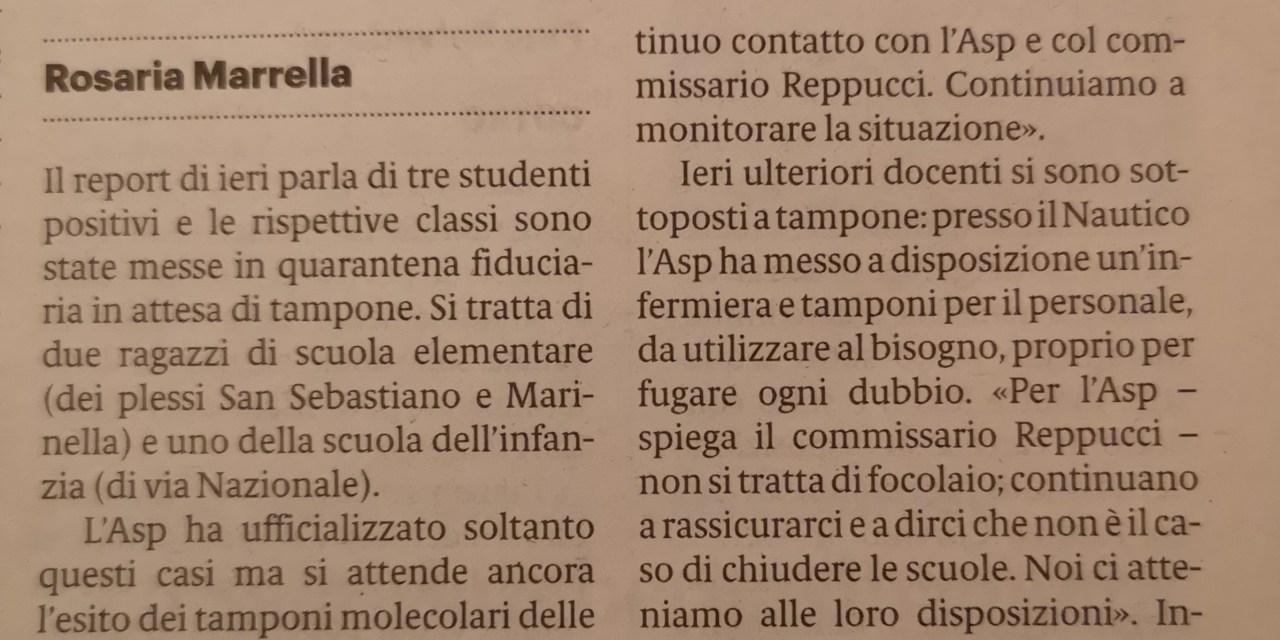 Pizzo, studenti positivi. Tre classi inaccessibili