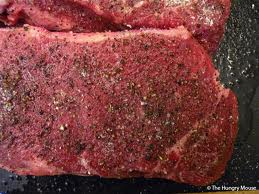 Thin cut peppered sirloin steak