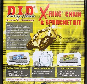 DID 525VX Chain and Sprocket Kit Aprilia RSV 1000 04-09