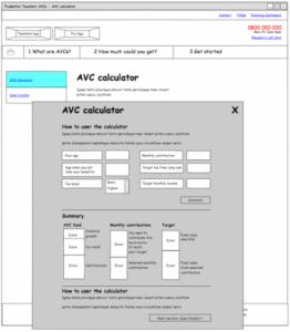 Prudential AVC template - AVC calculator (redesign 1)