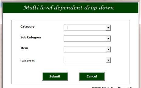 Menú desplegable dependiente en el formulario de usuario de VBA