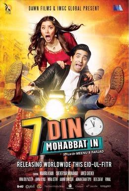 7 din mohabbat in Pakistani Movie Poster