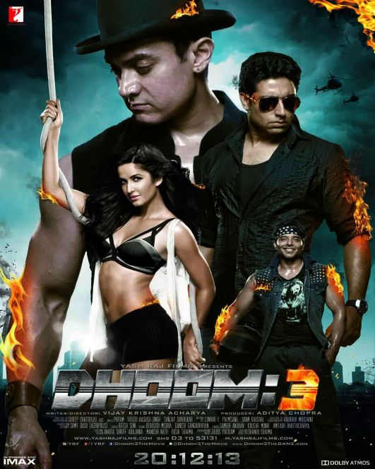 Dhoom 3 indian Movie Poster