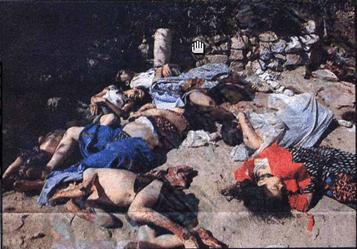 İnsanlık düşmanı Pkk'nın çocukları meydanda toplayıp kurşunladığının en açık ispatı olan fotoğraf.