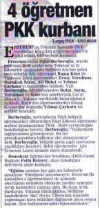 Erzurum Tekman öğretmen katliamı