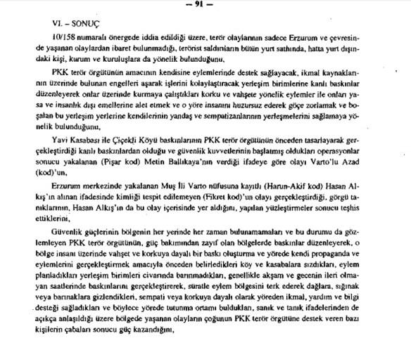 Çiçekli katliamı Meclis Araştırma Komisyon Raporu