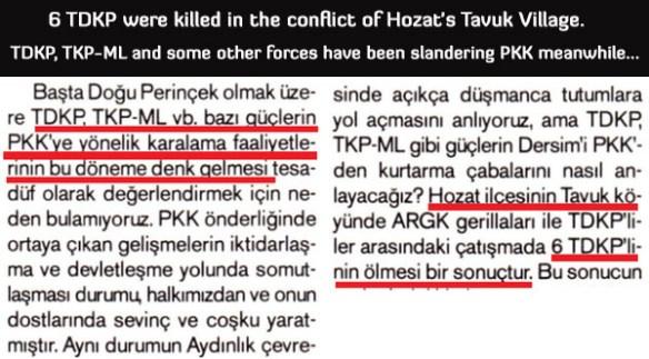 tunceli tavuk village massacre