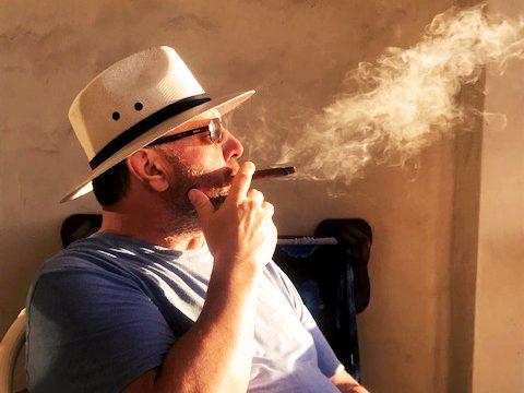 PK Mayo with cigar