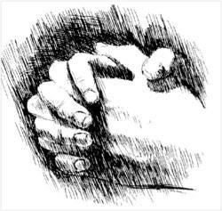 biddende handen