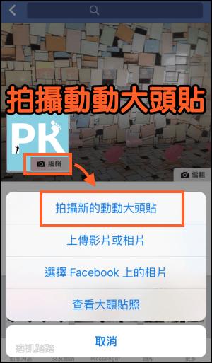 Facebook動動大頭貼1