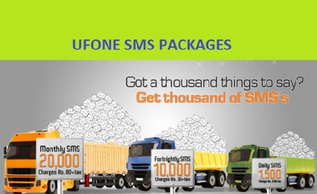 ufone sms packages and offers
