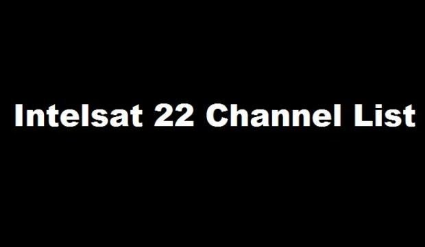 intelsat 22 channel list