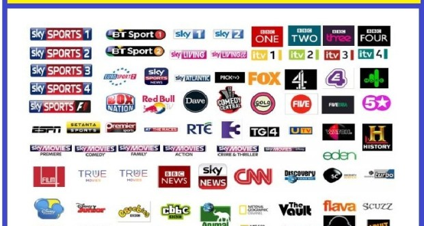sky uk complete channel list