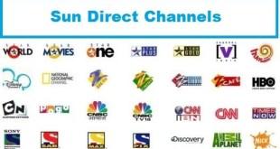 sun direct channels list