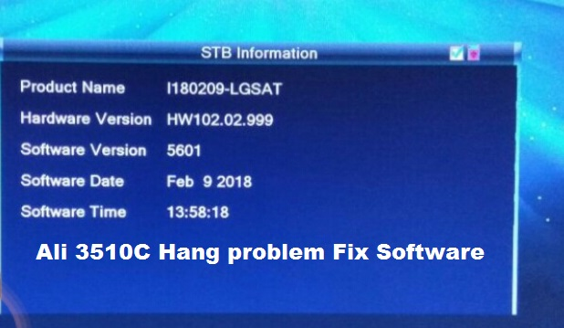 Ali 3510C Hang Problem Fix Software