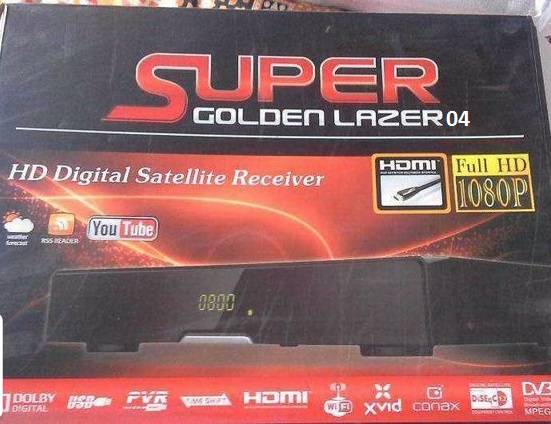 Super Golden Lazer 04 hd receiver poewrvu key new software
