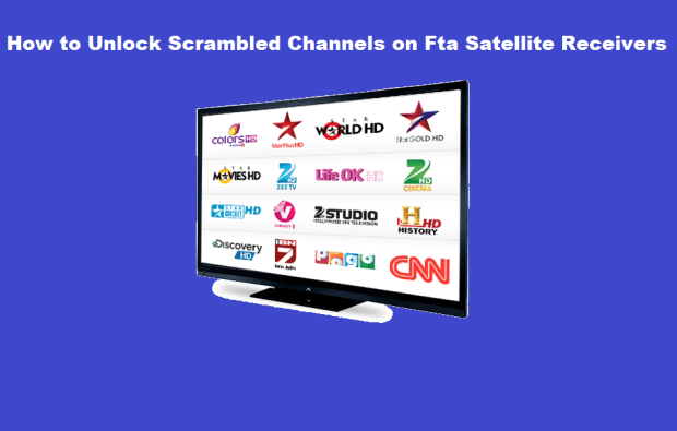 how to unlock scrambled channels on fta dish receiver