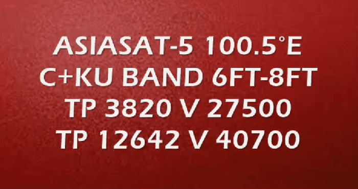 Asiasat-5 Strong TP with Dish Size - PkTelcos