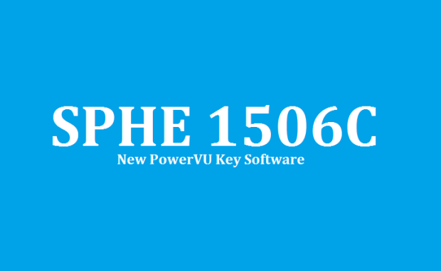 SPHE 1506C HD Receiver New PowerVU Key Software