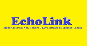 Echolink Zipper 2000 HD Receiver New PowerVU Key Software by Loader