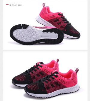 pink and black shoes