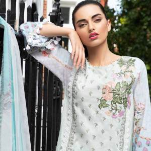 3 PCs Embroidered Lawn Dress