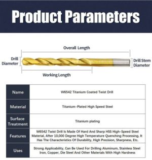 Titanium Coated Twist Drill