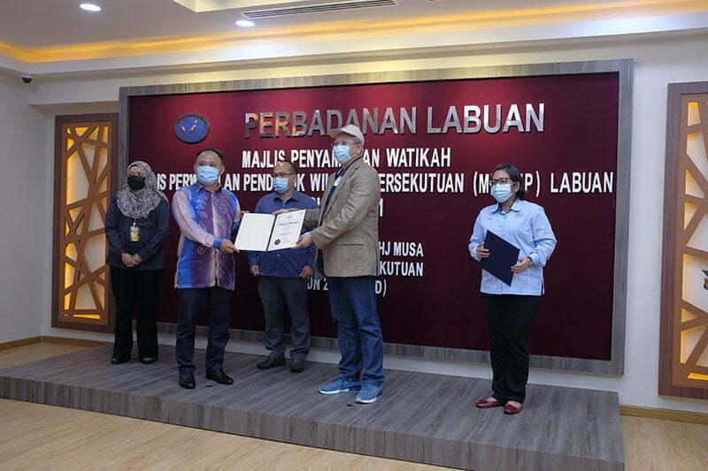 Majlis Penyampaian Watikah Majlis Perwakilan Penduduk Wilayah Persekutuan (MPPWP) Labuan Sesi 2020/2021