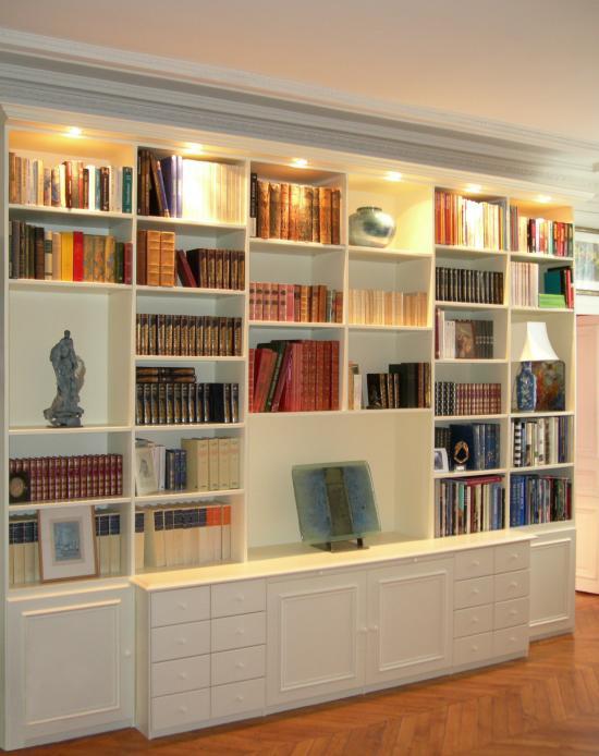 Bibliotheque Blanche Meuble Biblioth Que Blanche En Bois