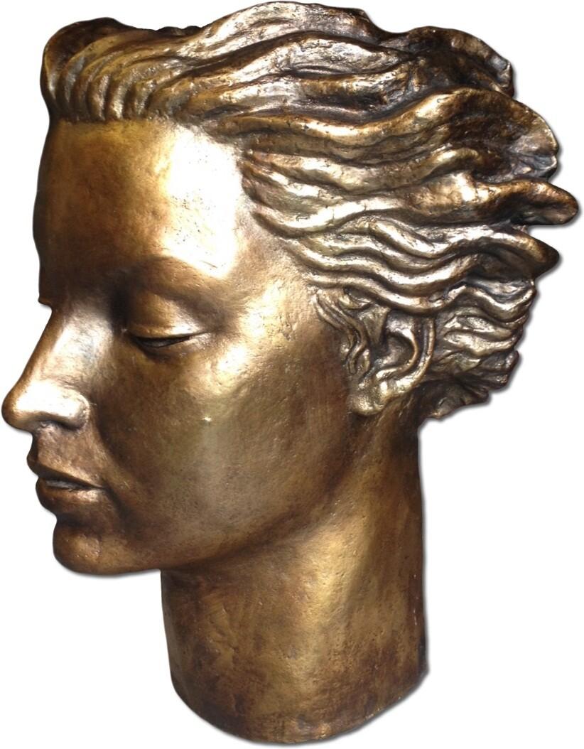 busto modelado en resina