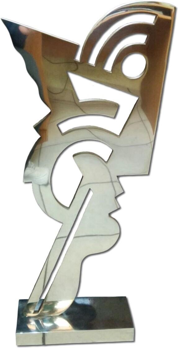 escultura fundida en bronce