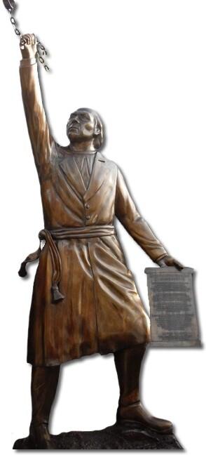 escultura fundida en bronce 3 metros