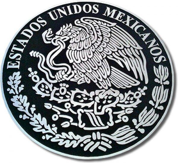 placa fundida en aluminio escudo nacional